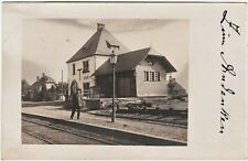RARE RPPC  Railroad Station Depot RR - Hochscheid Hunsruck Germany 1917 WWI
