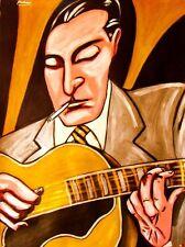 DJANGO REINHARDT PRINT poster gypsy jazz guitar nuages cd levin archtop guitar