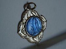 "Religious Médaille  "" Maria Grotto Blue Moden Enamel Italy ""  MR 549"