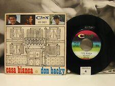 """DON BACKY - CASA BIANCA / MA CON CHI 45 GIRI 7"""" ITALY 1968 ACC 24071 + TAGLIANDO"""