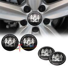 4PC 56.5mm JUNCTION PRODUCE JP Aluminum Car Wheel Center Hub Cap Sticker Emblems