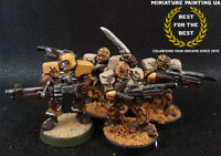█ Warzone Warhame Capitol Desert Scorpions Squad with Two Heroes, Pro Painted █