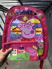 Peppa Pig pink Child backpack girl - With Pencil case