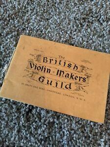The British Violin Makers Guild; vintage catalogue?
