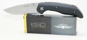 KaBar Jarosz Knife Black GFN Handle Drop Point Plain Edge 7505