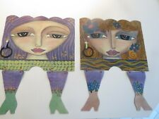 Rare Set Of 4 Kimberly Wilcox SILVESTRI Placemats w/ Napkins & Holders - Signed