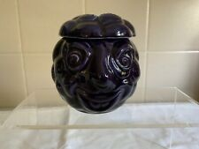 More details for vintage rare sylvac face pot bramble 4898 - lid has 2 small chips