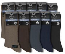 10 Paar Herren Socken Arbeit Business Herrensocken ohne Gummi schwarz blau braun