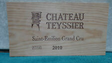 2010 CHATEAU TEYSSIER SAINT EMILION GRAND CRU WOOD WINE PANEL END