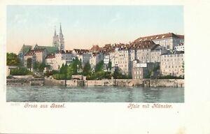 BASEL - Pfalz mit Munster Gruss Aus Basel - Switzerland - udb (pre 1908)