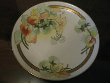 "Fabulous  Limoges Hand Painted Plate ""Pure Cotton"" 24k Gold Trim Signed Celina"