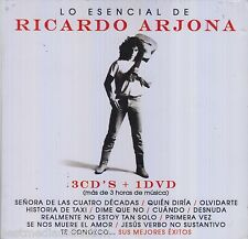 SEALED - Lo Esencial De Ricardo Arjona CD NEW 3 CD's + 1 DVD BRAND NEW