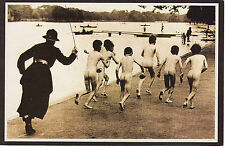 Reproduction Vintage Postcard : Boys at London Serpentine 1926