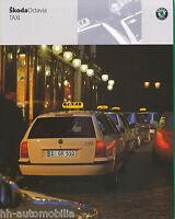 Skoda Octavia Taxi Prospekt 2001 5/01 brochure Autoprospekt broschyr brosjyre
