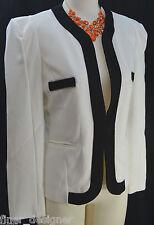 AIERXI blazer B&W Lined Jacket knit stretch Suit Coat sexy light womens SZ M NWT