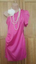 river island pink satin one shoulder dress size 8