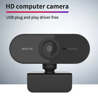 Full HD 1080P PC Laptop Camera Autofocus USB Webcam Video Web Cam w/ Microphone