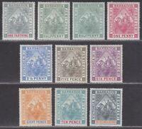 Barbados 1897 QV Diamond Jubilee Set Mostly Mint SG116-124 cat £300+
