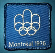 Rare 1976 Olympic Summer Games Montreal Canada Hat Hipster Jacket Patch Crest C