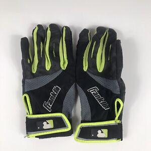 Franklin Adult Medium 2nd Skinz Batting Gloves Pro-Formance Pair Black/Green