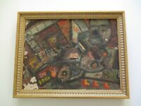 BENJAMIN STAHL OIL PAINTING EXPRESSIONIST 1940'S WPA MODERNIST ABSTRACT LISTED