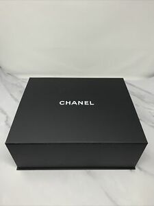 Authentic Chanel Classic Large Black Gift Box with black tissue paper33*27*13cm