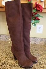 NWOB Cole Haan SUEDE PLATFORM PATENT BROWN  Boots Size 7.5 #D38401