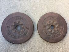 Vintage Pr BFCO National Fitness 10 Lbs Weight Plates
