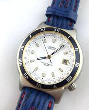 Reloj orientar C7703ga Vintage Watch Quarz fecha 10bar Japan Geniune cuero