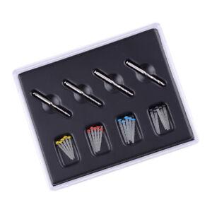 20Pcs Dental Quartz Fiber Post Resin Glass Screw Pile & 4 Drills Dentist Product