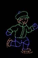 Skating Boy LED metal wire frame outdoor light yard lawn display