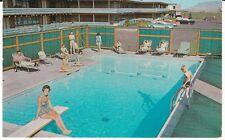 "Bozeman Mt ""The Rambler Motel Swimming Pool"" Postcard Montana * Free Us Ship"