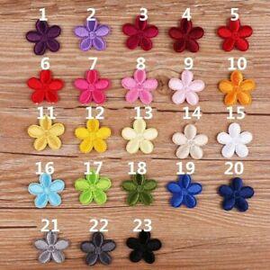 20 X Blumenmuster Patch Aufbügeln Zum Aufnähen Bestickt Applikation DIY