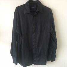 Kenzo Homme Shirt Size 43/17 Black Pinstripe Smart Workwear Casual/Formal
