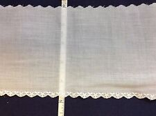 """BEAR THREADS #701118-E-107 WHITE EMBROIDERED EDGING 4 3/4"""" WIDE--BY THE YARD"""