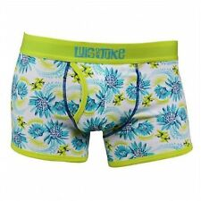 NEW LUIS & JUKE VINTAGE LIME CLASSIC OPEN FLY STEVIE FITTED BOXER X/LARGE 36/39