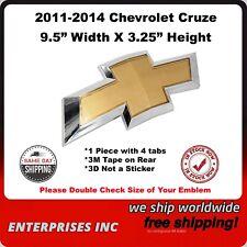 2011 2014 Chevrolet Cruze Gold Chrome Border Grill Bowtie 3m Tape 4 Tabs Fits 2012 Chevrolet Cruze Lt