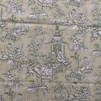 "SANDERSON Designer CURTAIN UPHOLSTERY FABRIC""CHATELET""3 METRES Leaf Green LINEN"
