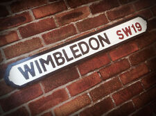 Wimbledon Old Wood London Vintage Street Sign Tennis Andy Murray Road Sign