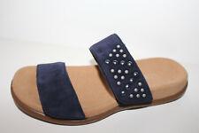 Gabor Pantolette mit Schmucksteine dunkelblau Gr. 36 NEU (473)