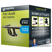 Anhängerkupplung WESTFALIA abnehmbar für AUDI A5 Cabrio +E-Satz AHK