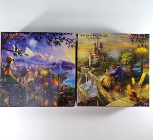 Thomas Kinkade Disney Puzzles Lot of 2 The Dreams Collection 750 pieces
