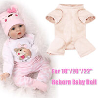 22'' For Soft Simulation Baby Doll Reborn Girl Boy Kits Cloth Full Body Gifts