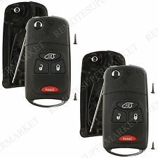 2 Replacement for Chrysler Pacifica Jeep Liberty Remote Car Key Fob Shell Case