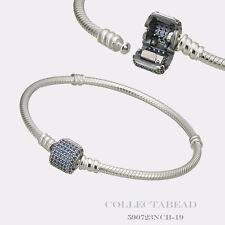 """Authentic Pandora Bracelet Signature Clasp Royal Blue CZ 7.9""""  590723NCB"""