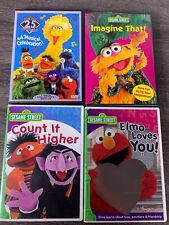 Sesame Street DVD Lot. 4 Sesame Street DVDs. Pre-Owned. Kids Children