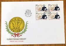 Norway Post FDC 1990.11.23. Nobel Laureates IV Nobel Peace Price - Block of Four