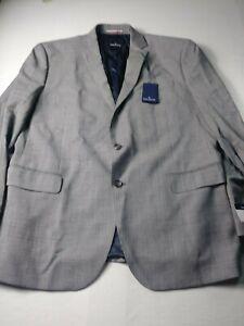 New Daniel Hechter Mens Suit Sz 46R (Pants 36.5x36.5) Gray Check Two Button