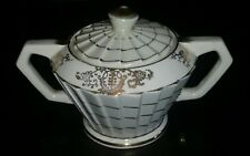 Rare Antique Art Deco (1930s) English Sadler Porcelain Sugar Pot