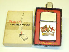 "NIMROD COMMANDER ""FALCON"" PIPE LIGHTER - FEUERZEUG - OVP - 1950 -MADE IN ENGLAND"